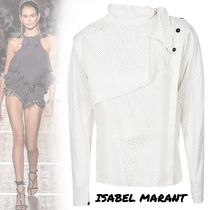 Isabel Marant Dots Silk Long Sleeves Medium Elegant Style Shirts & Blouses