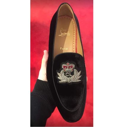 Christian Louboutin Loafers Suede Velvet Loafers & Slip-ons