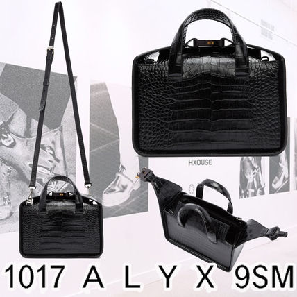 2WAY Plain Leather Messenger & Shoulder Bags