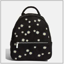 SKINNYDIP Flower Patterns Casual Style Backpacks