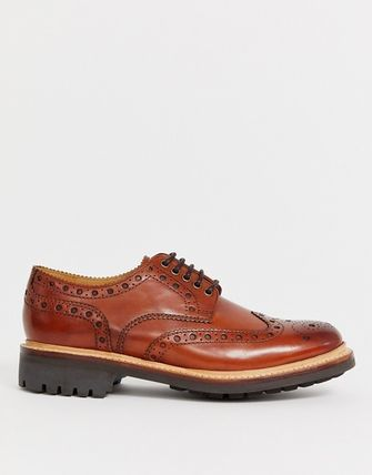 Wing Tip Leather Oxfords