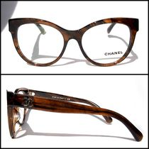 CHANEL Unisex Cat Eye Glasses Optical Eyewear