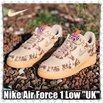 Nike AIR FORCE 1 Unisex Blended Fabrics Street Style Sneakers