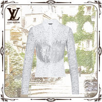 Louis Vuitton Flower Patterns Casual Style Silk Nylon Long Sleeves Cotton
