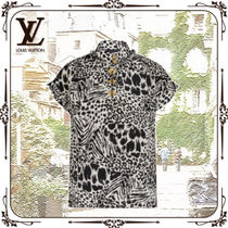 Louis Vuitton Silk Other Animal Patterns Short Sleeves Shirts & Blouses