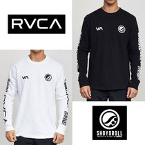 RVCA Crew Neck Unisex Street Style Collaboration Long Sleeves