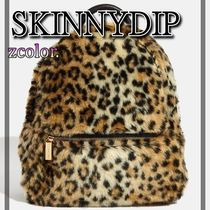 SKINNYDIP Leopard Patterns Casual Style Street Style Backpacks