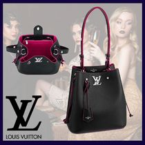 Louis Vuitton Casual Style Calfskin 2WAY Plain Leather Office Style