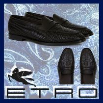 ETRO Moccasin Leather Loafers & Slip-ons