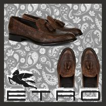 ETRO Paisley Moccasin Tassel Leather Loafers & Slip-ons