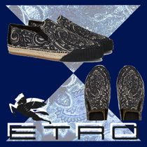 ETRO Paisley Suede Blended Fabrics Loafers & Slip-ons