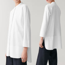 COS Casual Style Long Sleeves Plain Cotton Long Party Style