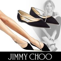 Jimmy Choo Casual Style Suede Plain Party Style With Jewels
