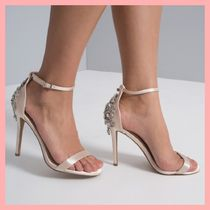 Chi Chi London Open Toe Pin Heels With Jewels Heeled Sandals