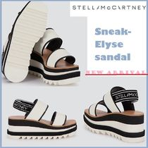 Stella McCartney ELYSE Open Toe Platform Plain Toe Rubber Sole Casual Style