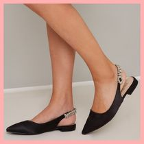Chi Chi London Casual Style With Jewels Pointed Toe Pumps & Mules