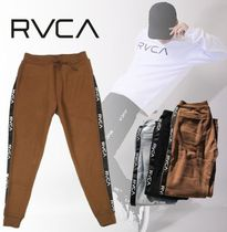 RVCA Tapered Pants Unisex Sweat Street Style Plain Logo