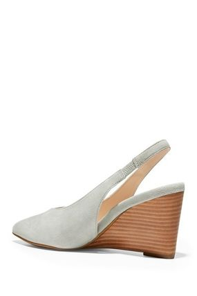 Cole Haan Suede Plain Elegant Style Wedge Pumps & Mules