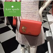 kate spade new york Heart Casual Style Collaboration Plain Other Animal Patterns