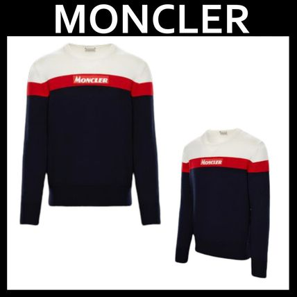 MONCLER Knits & Sweaters Crew Neck Unisex Long Sleeves Knits & Sweaters