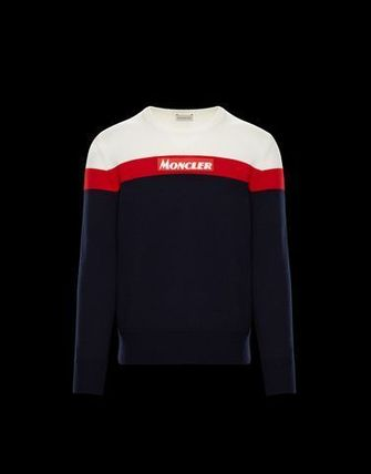 MONCLER Knits & Sweaters Crew Neck Unisex Long Sleeves Knits & Sweaters 3