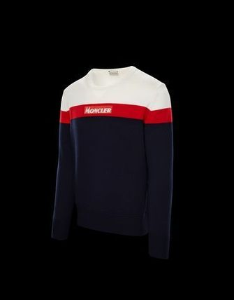 MONCLER Knits & Sweaters Crew Neck Unisex Long Sleeves Knits & Sweaters 4