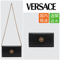 VERSACE Chain Leather Shoulder Bags
