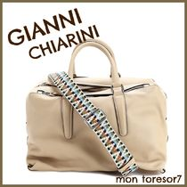 GIANNI CHIARINI Casual Style 2WAY Plain Leather Elegant Style Handbags