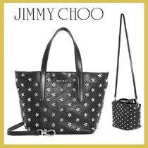 Jimmy Choo Studded Leather Totes