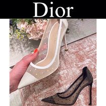 Christian Dior Dots Casual Style Blended Fabrics Street Style Leather
