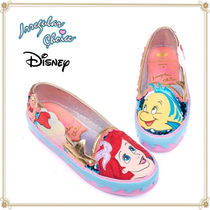 Disney Round Toe Casual Style Collaboration Slip-On Shoes