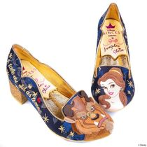 Disney Round Toe Casual Style Collaboration Block Heels