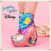 Disney Round Toe Casual Style Collaboration Ankle & Booties Boots