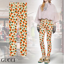 GUCCI Printed Pants Casual Style Denim Blended Fabrics Cotton Long