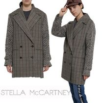 Stella McCartney Tartan Casual Style Wool Medium Office Style Oversized