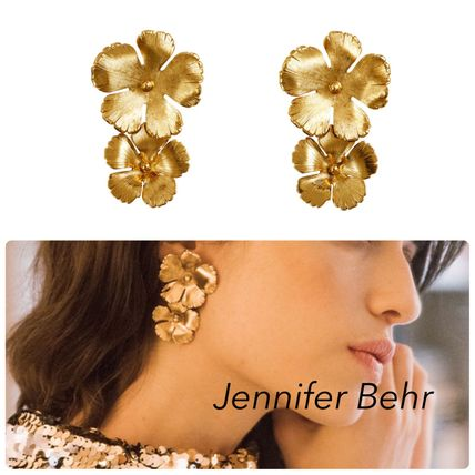Casual Style Flower Party Style Elegant Style Earrings