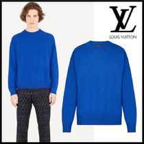 Louis Vuitton Crew Neck Long Sleeves Plain Long Sleeve T-shirt Logo