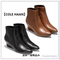 Cole Haan Casual Style Plain Leather Elegant Style Wedge Boots
