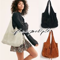 Free People Casual Style Plain Leather Totes