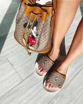 GUCCI Monogram Unisex Collaboration Other Animal Patterns Leather
