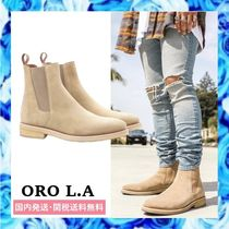 ORO LOS ANGELES Suede Street Style Plain Leather Chelsea Boots Chelsea Boots