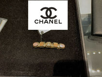CHANEL ICON Costume Jewelry Barettes Blended Fabrics Party Style