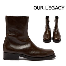 OUR LEGACY Unisex Plain Leather Boots