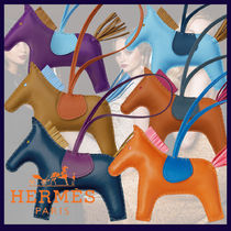 HERMES Lambskin Other Animal Patterns Keychains & Bag Charms