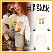 ELF SACK U-Neck Long Sleeves Medium Oversized Hoodies & Sweatshirts