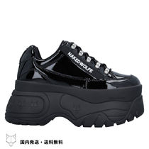 Naked Wolfe Platform Round Toe Rubber Sole Lace-up Casual Style