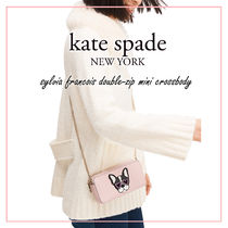 kate spade new york sylvia Casual Style 2WAY Plain Other Animal Patterns Leather