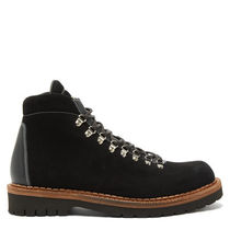 Mountain Boots Unisex Suede Blended Fabrics Street Style