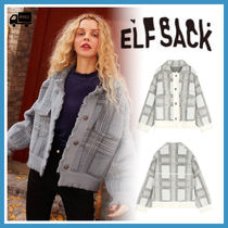ELF SACK Short Other Check Patterns Casual Style Tweed Street Style