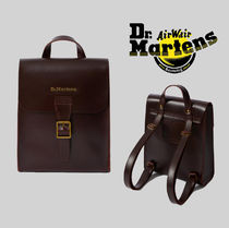 Dr Martens Casual Style Unisex Street Style 2WAY Leather Backpacks